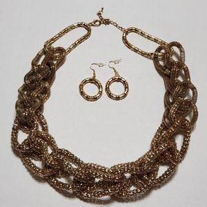 2Pc Gold Necklace Set